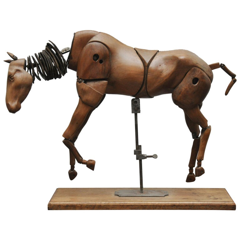 French Articulated Artist's Model of a Horse
