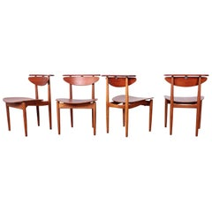 Rare Set of Four Chairs by Finn Juhl