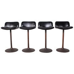 Set of Four Caribe Barstools by Ilmari Tapiovaara