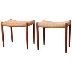 Pair of Stools by Niels O. Møller