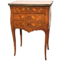 19th Century French Marquetry Inlaid Side Table