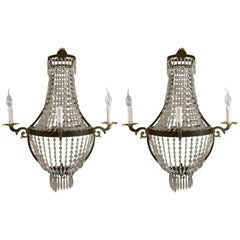 Pair of Empire Niermann Weeks Style Three-Light Sconces by Timothy Oulton