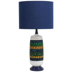 Aztec Style Ceramic Lamp, 1970s