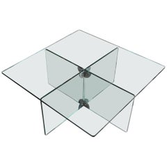 Italian 1950s Crystal Coffee Table by Luigi Massoni