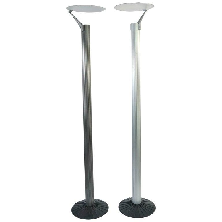 Matching Pair of Artemide 1980s Floor Lamps