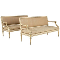 Pair of Painted Italian Sofas
