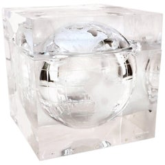 Alessandro Albrizzi Ice Bucket with Globe in Lucite