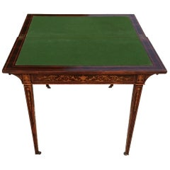 Early 20th Century Antique Card Table with Fine Inlaid Decoration