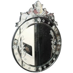 Round Decorative Modern Venetian Style Wall Mirror