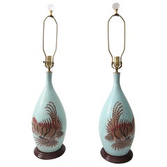 Pair of Japanese Meji Cloisonné Vase-Form Table Lamps