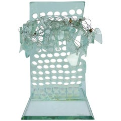 Contemporary Glass and Wire Sculpture Signed and Dated 1996, France