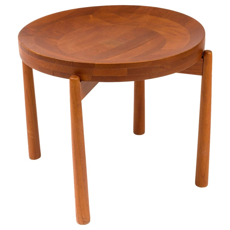 Jens Quistgaard Style Teak Tray Table, Denmark, 1960s For Sale