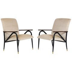 Pair of Italian Midcentury Lounge Chairs