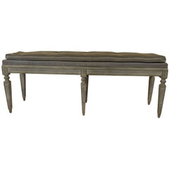 1950s French Louis XVI Bench