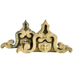 Pair of Metal Architectural Elements