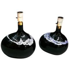 Pair of Holmegaard lamps