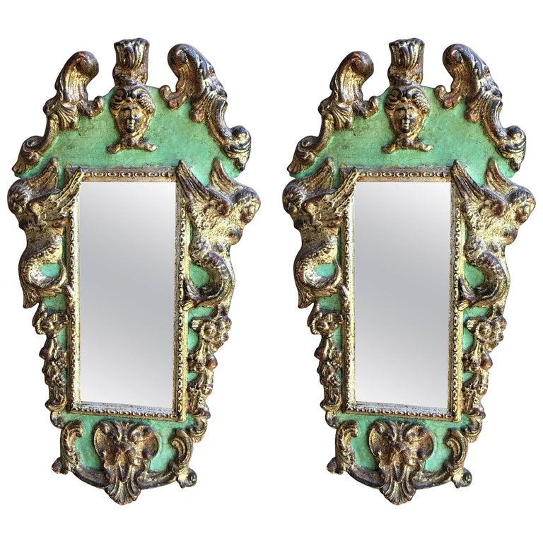 Pair of Italian Baroque Style Mirrors