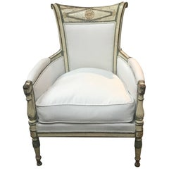 Exceptional French Period Directoire Armchair