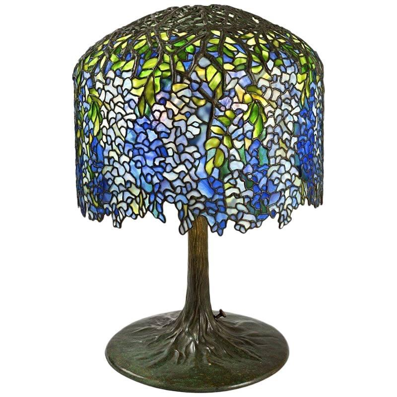 Captivating Tiffany Studios U0026quot;Wisteriau0026quot; Table Lamp