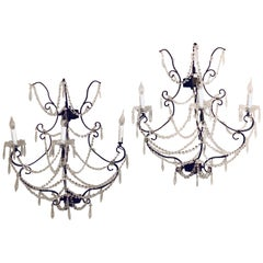 Pair of Metal Timothy Oulton Paris Wall Sconce of Industrial Design