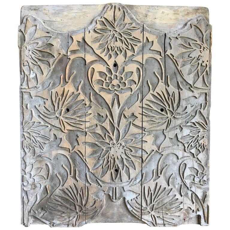 Carved Wood Wallpaper Printing Block