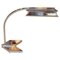 """Beautiful 1970s """"Arrow"""" Desk Lamp in Chrome by Koch & Lowy"""