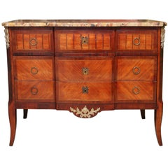 Superb 19th Century French Marble-Top Commode or Chest of Drawers