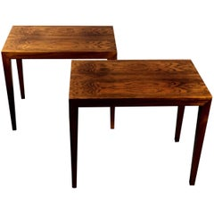 Pair of Severin Hansen Rosewood End Tables, Denmark, 1960s