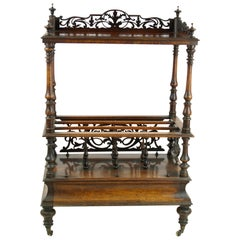 Antique Étagère, Rosewood Canterbury, Scotland 1870, Antique Furniture, B1128