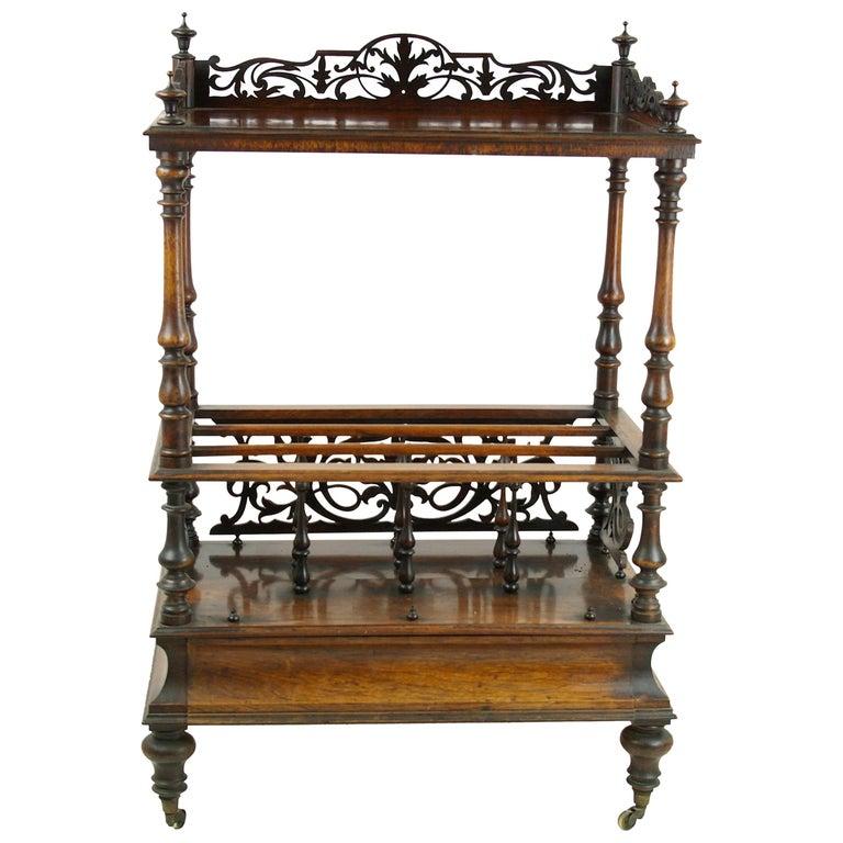 Antique Étagère, Walnut Canterbury, Scotland 1870, Antique Furniture, B1128  For Sale - Antique Étagère, Walnut Canterbury, Scotland 1870, Antique Furniture