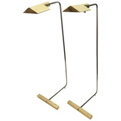 Pair of Signed Cedric Hartman Floor Lamp