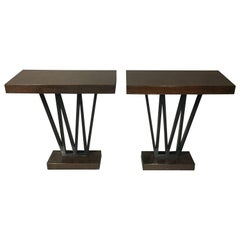 Pair of Art Deco Period Console Tables, USA, 1930s