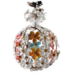 Very Elegant Rare 1960s Christoph Palme Colorful Glass Ceiling Lamp