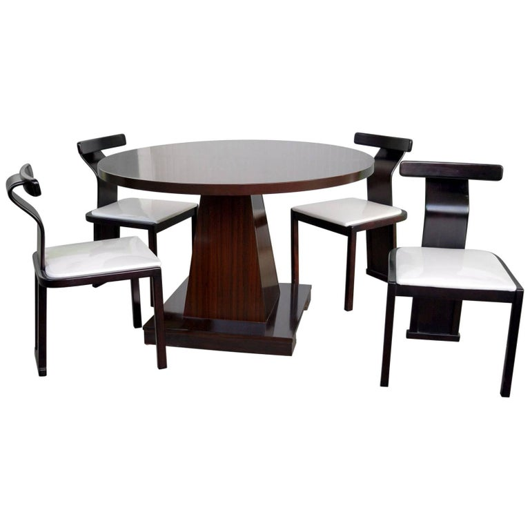 Four Chairs and Table Midcentury Set, Saporiti, Introini and Willy Rizzo Design