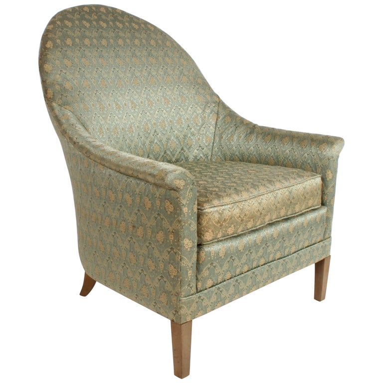 Elegant Spoon Back Romweber Lounge Chair  For Sale