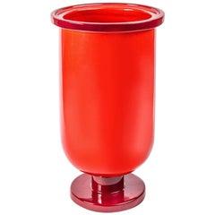 Base Bicolor Ceramic Vase by Aldo Cibic