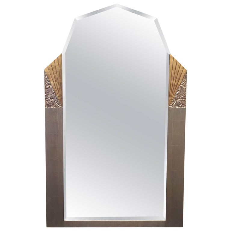 Vintage Gilded Art Deco Mirror For Sale