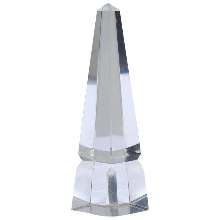 Clear Crystal Obelisk