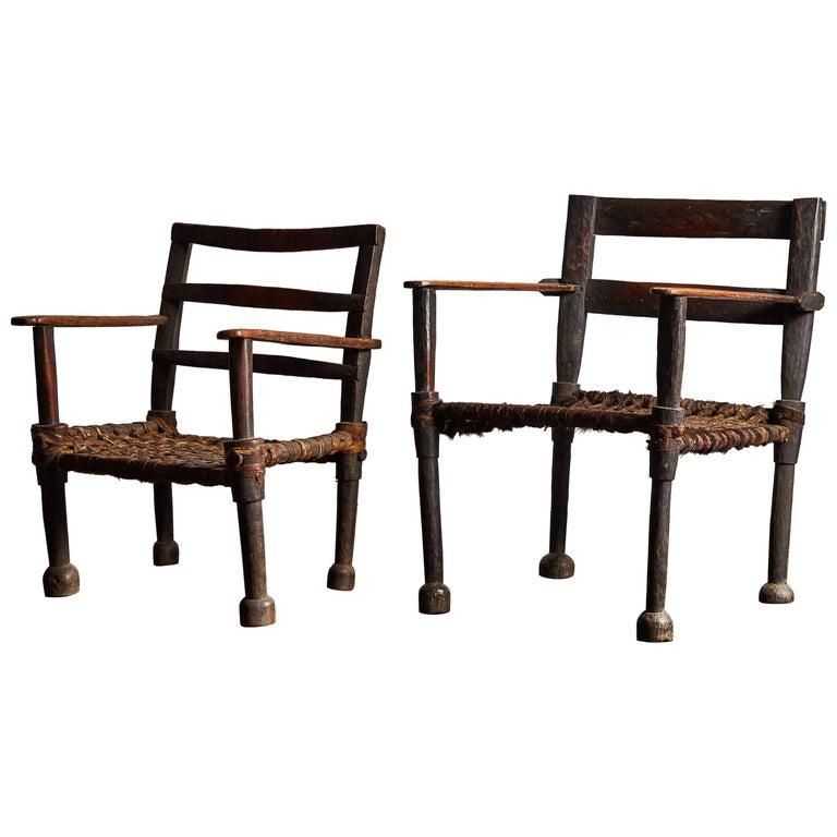 Pair of Ethiopian Chairs