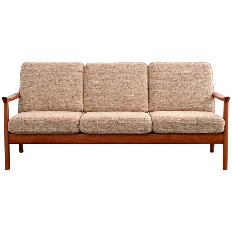 Three-Seat Teak Sofa by Juul Kristensen, 1960s