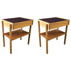 Pair of Danish Teak Midcentury Nightstands