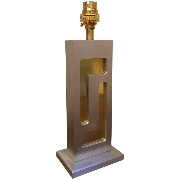 1970s Brushed Aluminium Lamp