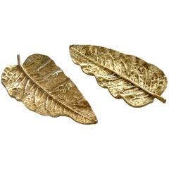 Leaf Bronze Tray Midcentury, Italy
