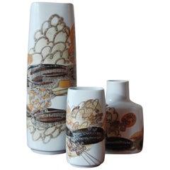 1960s Ivan Weiss Scandinavian Ceramic Vases Set for Royal Copenhagen