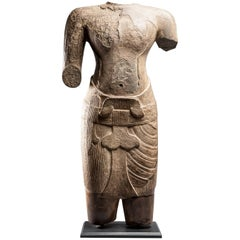 Standing Male Deity, Cambodia, Angkor Vat Period, Siem Reap Style, 12th Century