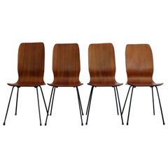 1950s Italian Rosewood Mid-Century Modern Dining Chairs