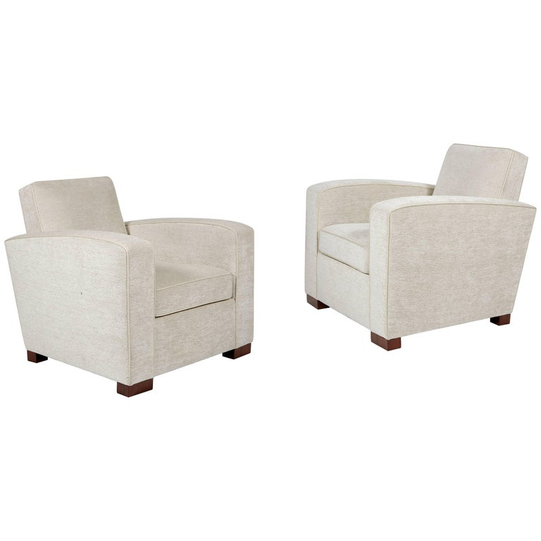 Pair of Armchairs by Jacques Adnet, circa 1930