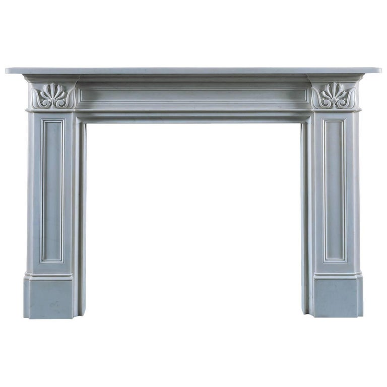 Jamb Onslow Reproduction White Marble Fireplace For Sale