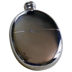 Oval Silver Hip Flask, 1872