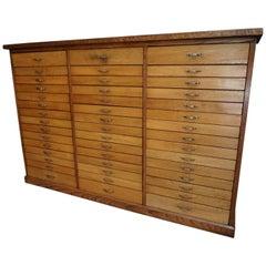 Dutch Oak Apothecary Cabinet, 1950s